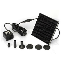 180L/H Monocrystalline Silicon Mini Solar Power Water Pump Panel Kit Fountain Pool Garden Pond Submersible Watering Pump