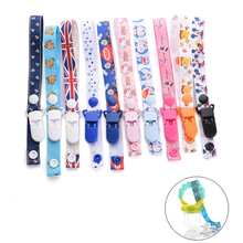 1pc Baby Stroller Toys Rope Teethers Pacifiers Pacifier Chain Bottle Strap Holder Toys Cups Anti-lost Strap Colorful Accessories