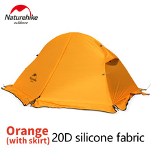 Naturehike Tent 210T/20D Silicone Fabric Ultralight 1 Person Double Layers Aluminum Rod Hiking Tent 4 Season With Camping Mat