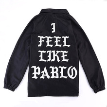 Kanye West I Feel Like Jacket New Fashion Men Women Hip Hop Pablo Coach jacket Casual Coat Windbreaker IACB Store