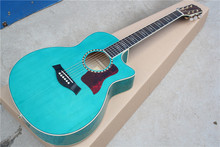 Factory Handmade Blue Cutaway 916 Classical acoustic guitar,Top quality Solid spruce top,burst Maple back and sides guitar