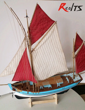 RealTS Classic France wooden sail boat scale 1/45 France tuna fishing fleet wooden Model kits(China)