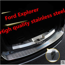 Car styling High Quality 304 Stainless Steel Inner+exterior Rear Bumper Protector Sill for 2016-2017 Ford Explorer(China)
