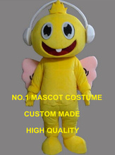 cute yellow headphones angel baby mascot costume adult size charity activities cartoon headset baby angel theme fancy dress 2637
