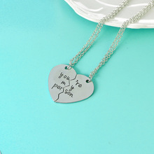 New Style Grey''s Anatomy Couple Love You''re My Person Heart Pendant Necklace