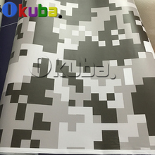 Jumbo Black White Pixel Digital Camouflage Car Full Body Wrap Military Digital Camo Graphic Film With Air Bubble Free