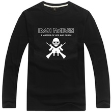 Iron Maiden rock band t shirt long sleeve fitness t-shirt heavy metal music pop tee shirt(China)