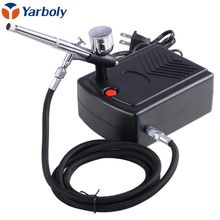 Dual Action Airbrush Air Compressor Kit Art Painting Tattoo Manicure Craft Cake Spray Model Air Brush Nail Tool Set Spray Gun