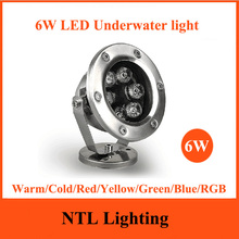 New 6W LED Underwater light IP68 waterproof lamp lights AC/DC 12V 24V for Fountain Swimming Pool Pond Fish Tank Aquarium Park