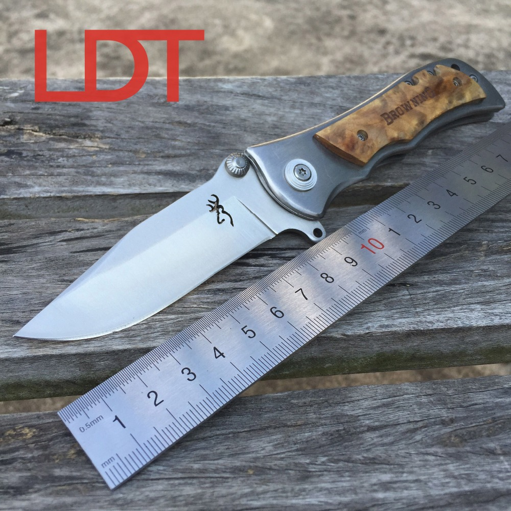 LDT Brand Browning 339 Tactical Folding Blade Knife 440 Blade Hunting Camping Knives Outdoor Survival Pocket EDC Tools OEM Knife<br><br>Aliexpress