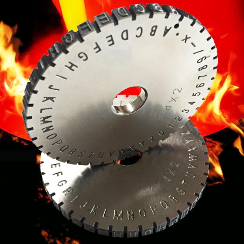 Character plate Font Wheel 2mm Gear for Manual steel embossing machine Embosser<br>