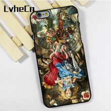 LvheCn phone case cover fit for iPhone 4 4s 5 5s 5c SE 6 6s 7 8 plus X ipod touch 4 5 6 Amazing Alice In Wonderland Mad Hatter(China)
