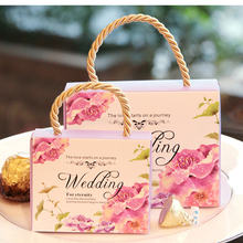 10pcs Wedding Creative European Style Candy Bag Wedding Supplies High - Grade Packaging Candy Box La3(China)