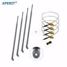 Aperit 4 x 9dBi Dual Band Antenna Mod Kit for Netgear Router DGND3700 V1 and V2 ROUTER(China)