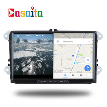car 2 din Android 7.1 stereo Head Unit for PASSAT Golf GTI polo tiguan Permanent radio video navi GPS RDS 2gb ram split screen