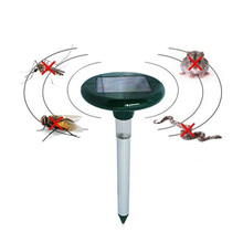 Solar Power Ultrasonic Gopher Mole Snake Cat Bird Mosquito Mouse Pest Repeller Control Garden Yard