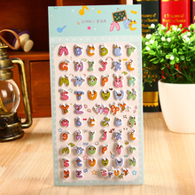 1 Sheet Kawaii Letter 3D Soft Bubble Stickers Classic Baby Toy Sticker Diary Notebook Phone Decorative Stationery Sticker