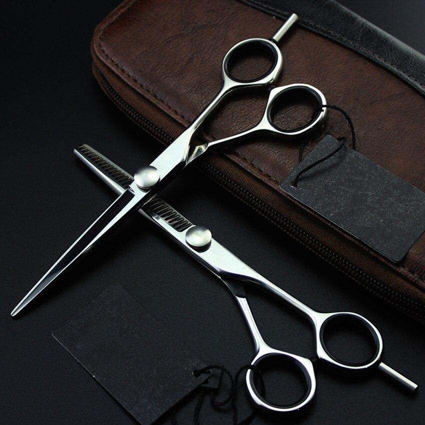 professional 5.5 &amp; 6 inch Upscale japan 440c cut hair scissors set scissor thinning shears cutting barber hairdressing scissors<br>