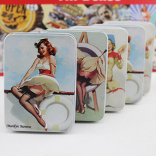 Home Decoration Accessories Classic Design Monroe Metal Storage Box Small Decor Tin Card Case Jewelry Box Candy Box For Kids(China)