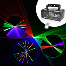 SUNY Remote DMX 400mW RGB Laser Stage Lighting Flash Scanner DM-RGB400 DJ Dance Xmas Show Effect Projector Fantastic Disco KTV(China)