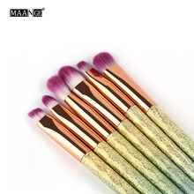 6Pcs Eye Shadow Makeup Brushes Set Eyeliner Eyelid Eyebrow Eyeshadow Lip Make Up Brush Colorful Handle Cosmetics Beauty Tool Pro