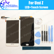 UMI Z LCD Display+Touch Screen 100% Original LCD Digitizer Glass Panel Replacement For UMIDIGI Z+tools+adhesive