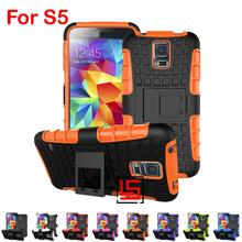 Armor Rugged Hybrid Hard PC TPU Rubber ShockProof Phone Mobile Mobil Case Cover Bag For Samsung Samsug Samsuns Galaxy S5 I9600