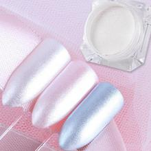 White Delicate nail powder Nail Art Manicure Decorations in Tip Glitters Dust 1g Pearl powder(China)