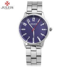 Julius Luxury Brand Quartz Watch Casual Fashion Stainless Steel Strap Watches Reloj Masculino Men Watch Sports Watches Best Gift