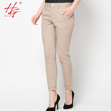C24 2016 women capris harem pants cuffs khaki trousers female office lady tight legs pants spring woman clothing