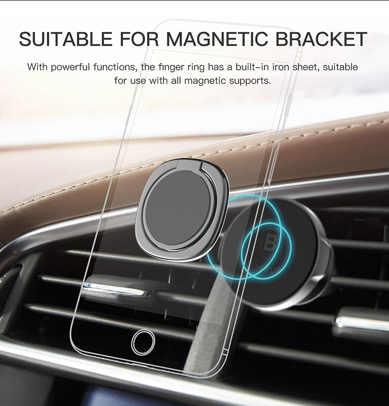 Baseus Magnetic Metal-Finger-Ring Holder Stand