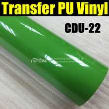 Free shipping Bulk meter CDU22 green PU Heat Transfer Vinyl PU Flex Film Black Color Cuttable shirts size 50*100CM/LOT