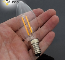 Wholesale 10PC LED Filament Candle Light Bulb E14 220V 110V 8W C35 Edison Bulb Retro Antique Vintage Style Cold Warm White Lamp(China)