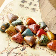 Buy 14mm Triangle Ceramic Beads Diy Loose Bead Porcelain Handmade Charms Bracelet Material Accessories Jewelry Women Men Fashion for $1.32 in AliExpress store