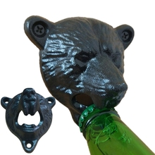 Vintage Bear Wall Bottle Opener 1PC Cast Iron Beer Soda Bottle Opener Kitchen Gadgets Dining & Bar Cooking Tools Wholesale 30JE9