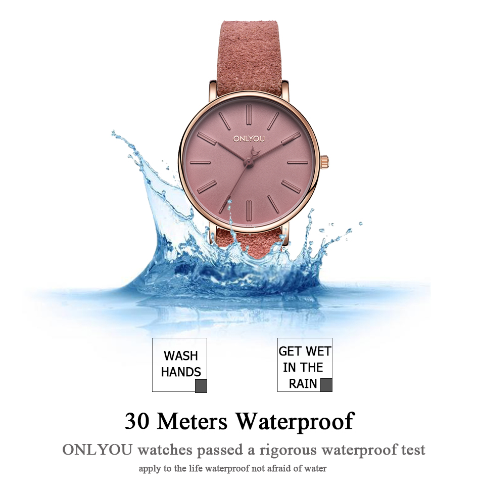 ONLYOU Woman Watches Women Fashion Watch 2017 Female Casual Wristwatches As A Gift For Ladies Simple Waterproof Quartz Clock