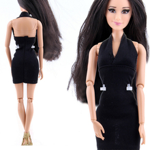 Handmade Cool Dresses for Barbie DIY Doll Clothes Accessories Fashion Lady Black Doll Best Gift For Child Girls Kids Toys Hot