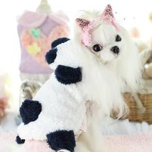 2017 new dogs cats fashion warm soft jacket clothes doggy cute cartoon panda hoodies costume puppy overcoat pet dog cat outwesr(China)