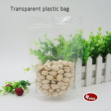 10*15+3cm Transparent plastic stand bag/ Waterproof and dust proof, Mobile phone shell packaging, Food bags. Spot 100/ package