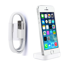 Charger Dock for iPhone 7 Desk Charger Sync Stand for iPhone 7 7plus 6 6s 6plus 5 5s SE + 8pin USB charging cable For iphone X 8