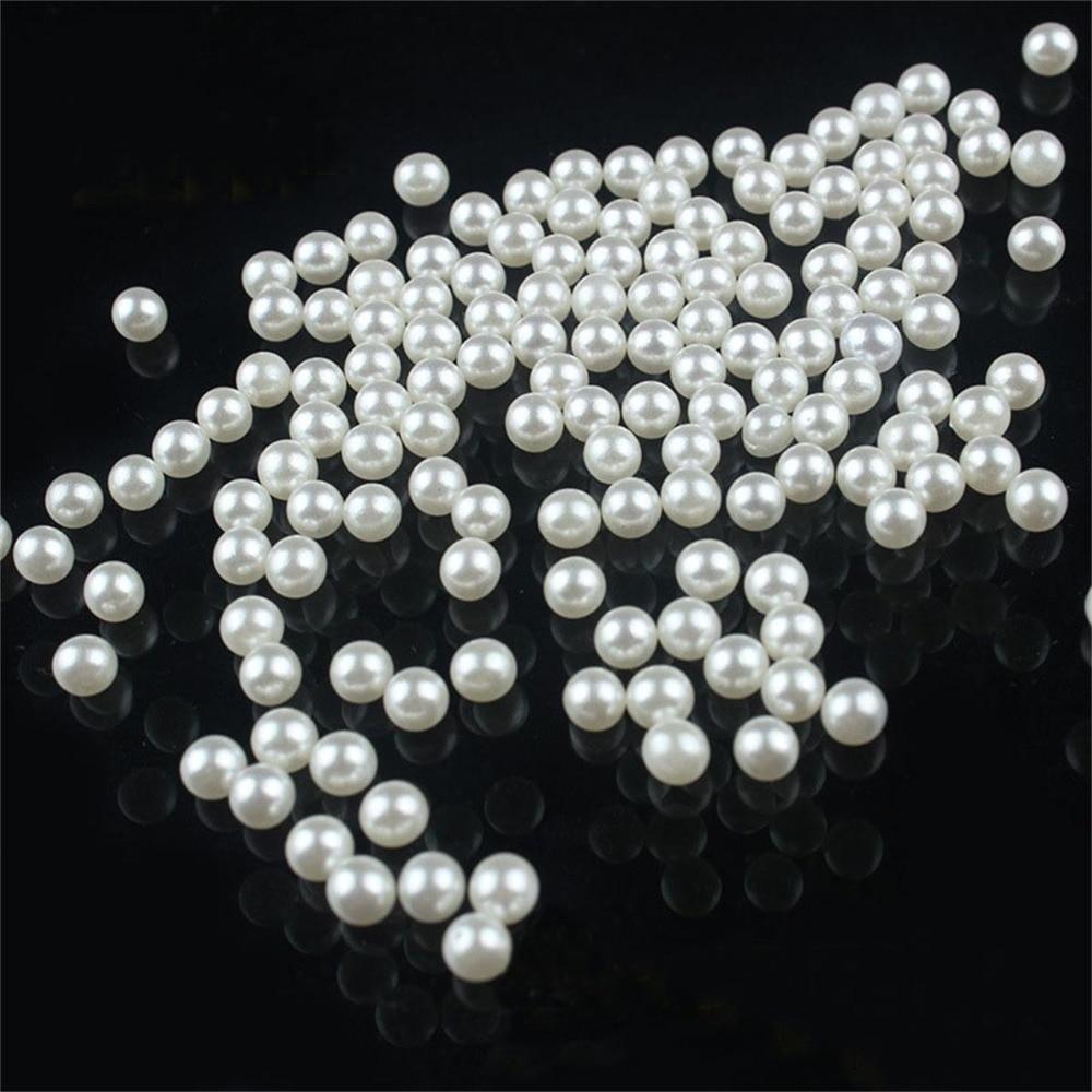 200 pcs  Round Chunky Imitation Loose Acrylic Pearl Beads Crafts DIY Jewelry 5mm