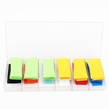 280pcs 74mm PVC Heat Shrink Tubing Tube Wrap Kit 8 Colors with Case For Li ion 18650 18500 Battery