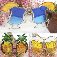 Hot Novelty Hawaiian Beach Pineapple Sunglasses Hawaii Party Fruit Glasses Dancing Supplies Hen Night Stag Party Fancy Dress