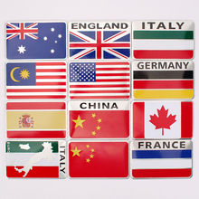 National flag car stickers aluminum alloy emblem personalized decoration stickers body stickers auto supplies(China)