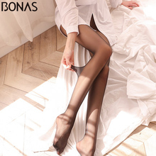 Buy BONAS 2018 New 15D Sexy Breathable Tights Tear-resistant Women Pantyhose Ultra-thin Nylon Tights Stretchy Stockings Female