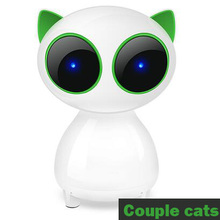 Free shipping Couple kitten desktop computer small speakers notebook mini Glowingsubwoofer 2.0 audio personality USB bass