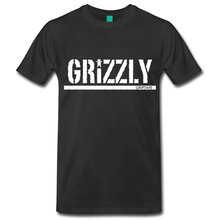 OKOUFEN Hot Selling Grizzly Tops Tees Crew Neck Men's Short Sleeve Motion Animal Cotton Broadcloth(China)