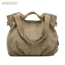 MIWIND 2017 Hot Designer Handbags High Quality Women Famous Brand Shoulder Bag Ladies Canvas Tote Bag Women Messenger Bags CB123