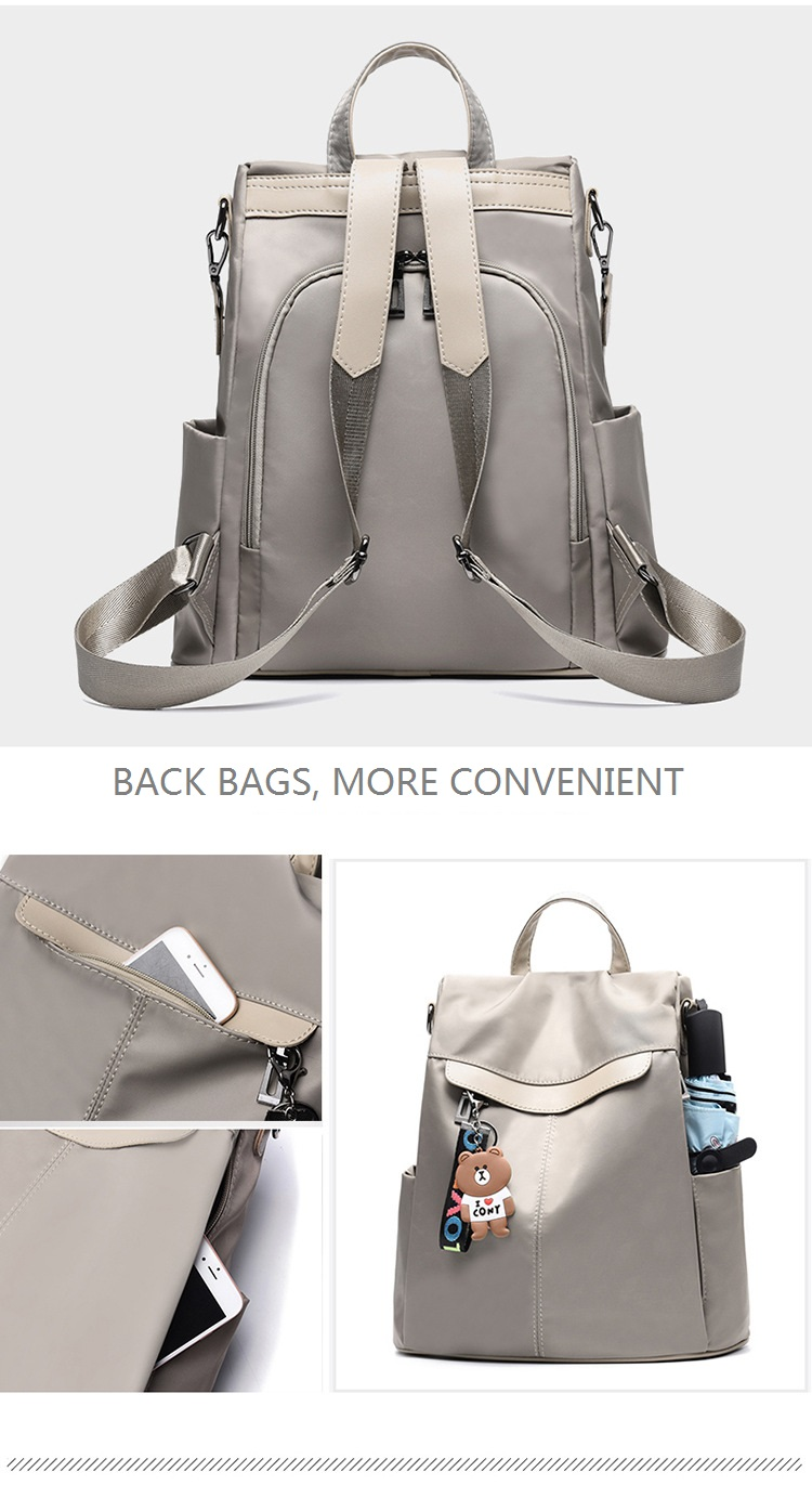 Large Capacity Backpack Women Preppy School Bags for Teenagers Female Oxford Travel Bags Girls Bear Pendant Backpack Mochilas 10 Online shopping Bangladesh