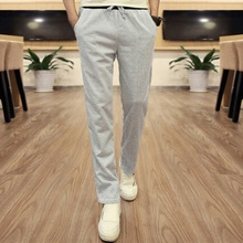 Boy Men Pants Trousers Male Casual Straight Pants Student Black Gray Pant Plus Size Summer Style